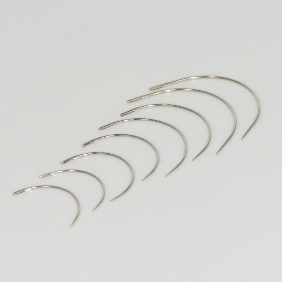 gebogene Nadel Polsternadeln Sattlernadeln Ledernadeln 3x 5 Nähnadeln sortiment